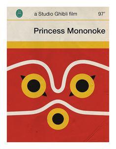 """Part of a set of nine 4x6"""" postcards based off 9 Studio Ghibli films by designer Jason K. We love it!"""