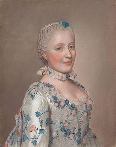 Marie Josephe De Saxe by Liotard in 1751