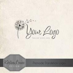 Premade Dandelion Logo by KirstenLouiseDesign #dandelionlogo #logodesign #logo