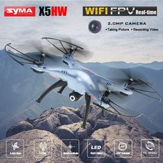 SYMA X5HW FPV RC Quadcopter Drone with WIFI Camera 6 Axis 2.4G RC Helicopter Quadrocopter Toys VS Syma with Led night lights