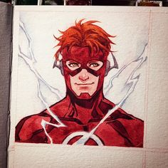 Testing new watercolor book Dc Memes, Marvel Memes, Bat Sketch, Dc Speedsters, Dc Comics, Wally West, Kid Flash, Arte Sketchbook, Detective Comics