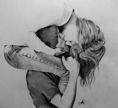 How to be Mega-Attractive to a Man, even if you are not his type... sketches of people hugging | long kisses by annakoutsidou traditional art drawings people 2013 2014 ...