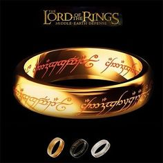 One of the most powerful artifacts in Middle-Earth. The One Ring was created by the Dark Lord Sauron in the fires of Mount Doom during the Second Age. This makes the perfect gift for any Lord of the Rings fan. Tag a friend that would like this and remember to like and repin if you like what you see! Click here to order--> http://www.teebrewery.com/collections/lord-of-the-rings-accessories/products/the-one-ring