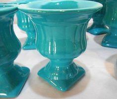 #5000# lote para festas vasos  azul tiffany