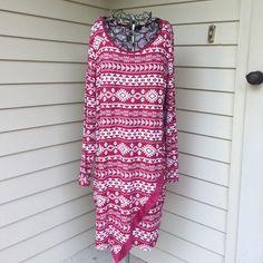 NEw Derek Hart Plus dress 3x New with tags, Derek Heart Plus Red/White print dress. Size 3X 96% Rayon 4% Spandex. Derek Heart Dresses