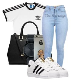 """Adidas World"" by str8-savage ❤ liked on Polyvore featuring adidas, MICHAEL Michael Kors and Movado"