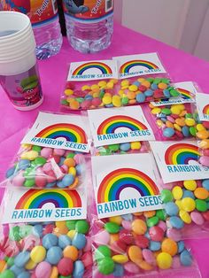 trolls party rainbow seeds