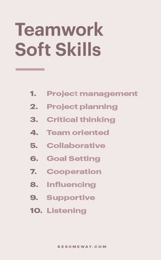 Teamwork is often the most sought-after characteristic on this soft skills list. To succeed in most positions, you will need to work with those around you. This includes understanding their perspective, negotiating, and appreciating their input. Moreover, to work well in a team, you should be able to accept and act on feedback from those around you. #Resume #ResumeSkills #SoftSkills #SoftSkillsResume #TeamworkSkills Resume Icons, Job Resume, Resume Tips, Job Interview Preparation, Job Interview Tips, Resume Writing Tips, Resume Skills, Find Me A Job, Self Employed Jobs