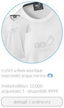 T-shirt ae unique unisex Swarovski color acqua marina  buy www.aeunique.com