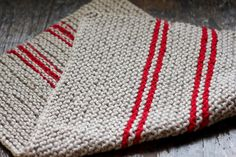 hand-knitted dish towels!