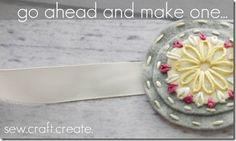 Adorable embroidered felt headband.