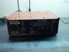 Lincoln Electric AC-225 (AC225) AC/DC stick/TIG welder conversion Lincoln Tig Welder, Arc Welders, Welding Design, Welding Tips, Homemade Tools, Metal Fabrication, Ac Dc, Metal Working, Conversation