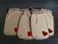 www.embrevecasadinhos.com.br | Blog and Design Wedding | Blog e Design de Casamentos | Mason Jar Gift Tags.  So Cute!!!
