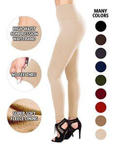 SEJORA Fleece Lined Leggings High Waist Compression Slimm…