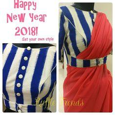 Saree Blouse Neck Designs, Stylish Blouse Design, Fancy Blouse Designs, Latest Blouse Designs, Designer Blouse Patterns, Blouse Models, Blouse Styles, Sarees, Saree Gown