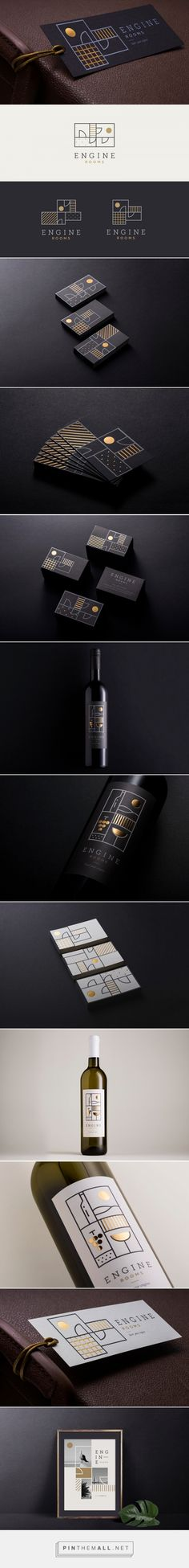 Engine Rooms wine packaging design by Mireldy - https://www.packagingoftheworld.com/2018/02/engine-rooms.html