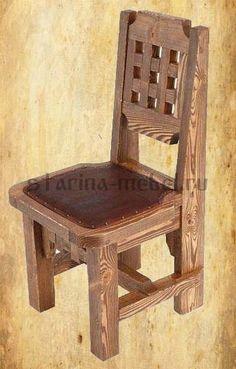 Купить стул под старину из массива сосны