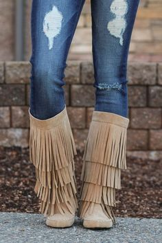 Dancing In My Moccasin Boots (Beige)
