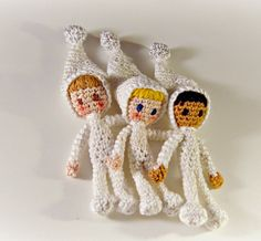 Amigurumi Little Snow Fairies- Tutorial ❥ 4U hilariafina  http://www.pinterest.com/hilariafina/