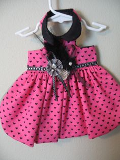 XXS XS Sm med Harness dress in black pink by MissMuffinsCloset, $34.95