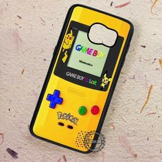 Game Boy Yellow Pokemon Pikachu - Samsung Galaxy S7 S6 S5 Note 7 Cases & Covers