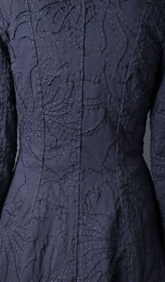 The back of Magdalena Coat by Alabama Chanin.  The workmanship is fabulous.