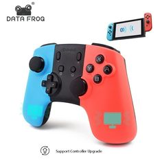 Data Frog Wireless Bluetooth Game Controller For Nintend Switch Gamepad Joystick For PC Games Joystick For Android Phone This wireless controller is compatible with the Nintendo Switch console. No need to install any drivers, it can be used once connected by code match. Bluetooth V3.0 wireless connectivity is used… Nintendo Switch Accessories, Gaming Accessories, Xbox One, Frog Games, Pc Android, Android Watch, Zelda, Pc Games, Video Games
