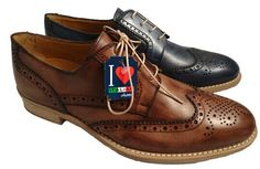 Tan brogues for men, made in Italy by Antica Cuoieria by Antica Cuoieria. Buy it 111,75 €
