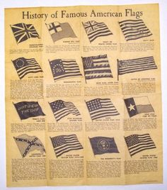 [History of Famous American Flags Parchment Document] website to order american historical documents