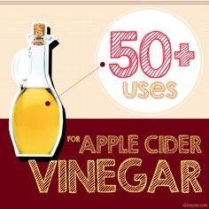 Apple Cider Vinegar Remedies 50 Uses For Apple Cider Vinegar--You wont believe all the benefits in this little glass bottle! Apple Cider Vinegar Remedies, Apple Cider Vinegar Benefits, Apple Vinegar, Cider Vinegar Weightloss, Bebidas Detox, Home Remedies, Natural Remedies, Health Remedies, Healthy Tips
