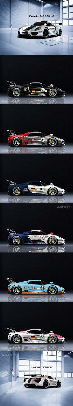 Porsche 918 RSR livery