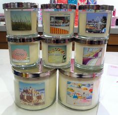 These are new Slatkin summer 2012 candles coming to Bath and Body Works. Right now in test stores. They look so intriqing!