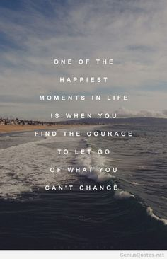 Let go what you cant change quote with image