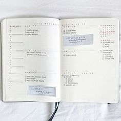 This beautiful weekly spread: | 24 Minimalist Bullet Journal Layouts To Soothe Your Weary Soul