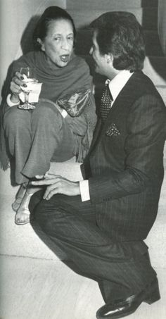 DIANA VREELAND AND VALENTINO chatting about all things chic!