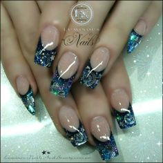 Luminous Nails: Galaxy Nails with Stiletto Pinkies! Fabulous Nails, Gorgeous Nails, Pretty Nails, Acrylic Nail Designs, Nail Art Designs, Acrylic Nails, Beautiful Nail Designs, Beautiful Nail Art, Fancy Nails