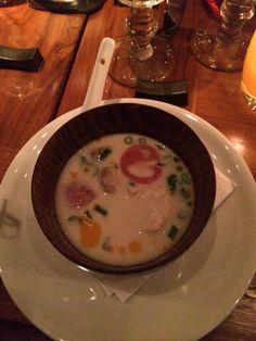 Coconut soup at NaiYaRa Miami . Delicious
