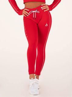 0d97b2809ee5b BSX High Waisted Leggings - Red - Ryderwear $65 Seamless Underwear, Lounge  Pants, Lounge