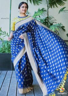 Never underestimate a silver hue! Swetha ( redefining silk saree style with this gorgeous drape from and… Bollywood Actress Bikini Photos, Tamil Actress Photos, Sari Blouse Designs, Fancy Blouse Designs, Most Beautiful Indian Actress, Beautiful Actresses, Indian Dresses, Indian Outfits, Simple Sarees