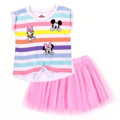 Disney Outfits, Girl Outfits, Disney Clothes, Pink Tutu Skirt, Tutu Skirts, Toddler Ties, No Sew Tutu, Disney With A Toddler, How To Roll Sleeves
