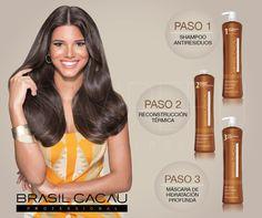 Nuestro Tratamiento de Reestructuración Térmica #BRASILCACAU proporciona nutrición intensa y resultados excepcionales para cabellos rizados con frizz y difícil de alisar.