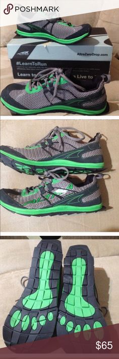 Alta zero drop running shoes Only worn once.   In excellent shape.  Comes with box.  Size 10.5 in men's. altra Shoes Athletic Shoes