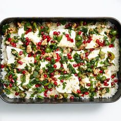 Baked minty rice with pomegranate and feta | Yotam Ottolenghi, via Bon Appetit