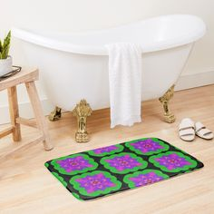 """Mandala Lotus Flower "" Bath Mat by Pultzar 