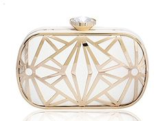 9023c67fed6 Trending Evening Bags KISS GOLD(TM) Exquisite Leather Metal Hollow Designer  Clutch.