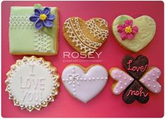 ROSEY'S - Valentine's Icing Cookies 2 by rosey sugar, via Flickr