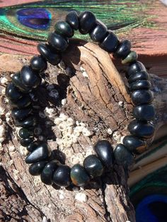 Amazing Dark Green Greenland Jade Gemstone Bracelet on Stretchy Cord Crystals For Sale, Crystals And Gemstones, Jade Bracelet, Beaded Bracelets, Rare Crystal, Lucky Stone, Crystal Decor, Peace And Harmony, Crystal Meanings