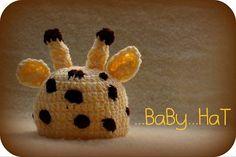 Žirafa Baby Hats
