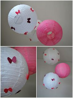 customisation de boule japonaise avec papillons pour décoration chambre bébé (2) Deco Kids, Happy House, Tips & Tricks, Baby Shower, Paper Lanterns, Diy For Kids, Baby Love, Kids Room, Diy Crafts