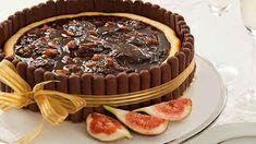 Cheesecake de Figos Com Palitos de Chocolate